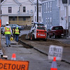 ALLEGRA BOVERMAN/Staff photo. Gloucester Daily Times. Gloucester: Streets are completely closed off in some cases around the Summer Street area. This is Foster Street on Tuesday.