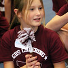 ALLEGRA BOVERMAN/Staff photo. Gloucester Daily Times. Gloucester: Almost 60 girls participated in the Gloucester Cheer Mini Camp this past week and they held a show for parents and friends on Thursday at the Gloucester High School field house. Participants received handmade spirit sticks, including Melissas Ciaramitaro, 10, who got hers for being the loudest. Other categories included most reliable, most improved, unsung heros and so on.