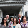 ALLEGRA BOVERMAN/Staff photo.Gloucester Daily Times. Gloucester: Cape Ann Insurance team: Back row, from left are: Bill Carlson, Isabel Cottone and Charles Nahatis. Front row, from left are: Diane Parisi, Holly Mayer and Jeanne Cairns.