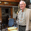 ALLEGRA BOVERMAN/Staff photo. Gloucester Daily Times. Roger Wonson in his hand-built kitchen at his home in Beverly.