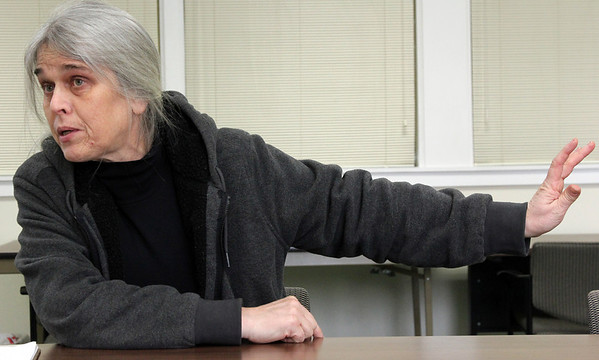 Allegra Boverman/Gloucester Daily Times. Susanne Altenburger talks about her ideas for the I-4, C-2 site.