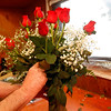 Allegra Boverman/Gloucester Daily Times. Gerald Mackillop designs a Valentine's Day bouquet at Audrey's Flower Shop during their  crunch time on Wednesday before the holiday.