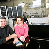 Allegra Boverman/Gloucester Daily Times. Wally's Blackburn Bistro has just opened in Blackburn Center. Paul Franklin and his wife Danika Franklin co-own the eatery.