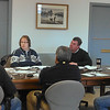 James Niedzinski/Gloucester Daily Times.  Members of the Rockport's Department of Public Works discuss details about the Long Beach Sea Wall project with Coastal Zone Management staff members Tuesday at town hall.