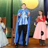 """Allegra Boverman/Gloucester Daily Times. From left are East Gloucester Elementary School fifth graders Jonathan Kane, Lila Olson, Logan James, Juliana Victorine and Kyleight Burke in """"Doo-Wop Wed Widing Hood,"""" a comic musical the entire fifth grade and their teachers are to perform at the school. Performances are Thursday and Friday at 7 p.m. and Saturday at 3 p.m. at the Davis Street Extension school. Tickets are $5 per person."""