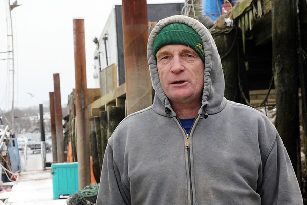 Allegra Boverman/Gloucester Daily Times. Capt. Don Smith of the Ryan Zachary, talking about how business is going. He is a gill netter from East Gloucester.