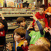 Allegra Boverman/Gloucester Daily Times. There was a full house of participating children and their parents at the Magic Pirate Show at Manchester Public Library on Tuesday.