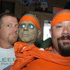 Gloucester: JIm Silva found his look-alike on the shoulder of Dave Souza dressed as an escapee from a psych ward saturday afternoon at the Old Timers Tavern.Desi Smith Photo/Gloucester Daily Times. June 27,2009.