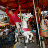 Gloucester: Jenna-Marie Lorentzen screams as she rides the carousel during St. Peter's Fiesta Carnival last night. Photo by Kate Glass/Gloucester Daily Times Wednesday, June 24, 2009