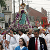 Gloucester: The procession for St. Peter's Fiesta heads up Washington Street Sunday. Mary Muckenhoupt/Gloucester Daily Times