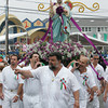 Gloucester: The procession for St. Peter's Fiesta lead by Dom Nicastro Sr. heads up Washington Street Sunday. Mary Muckenhoupt/Gloucester Daily Times