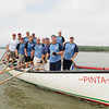 Gloucester: Members of the Gloucester Police Dept pose for a photo after being beaten by the CoastGuard in the seine boat race saturday morning at Pavilion Beach. But the loss didn't come without some controversy about the start of the race. Desi Smith Photo/Gloucester Daily Times. June 27,2009