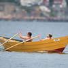 DESI SMITH/Staff photo.  Rob Morrissey and Joe Cominelli win in the Seniors Heat 1 Dory Elimination Races at Niles Beach Saturday morning.   May 31,2014
