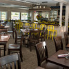 DESI SMITH/Staff photo.     C K Pearl restaurant in Essex, newly renovated dinning room with veiws of the Essex River Tuesday morning.  June 3,2014