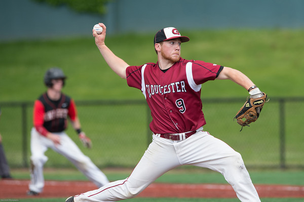 DESI SMITH/Staff photo.    Gloucester's pitcher Peter Clark was called in in the seventh inning to face the last batter and recording the save against North Andover in the D2 North Semifinals Friday afternoon at Frazer Field in Lynn.   June 6,2014