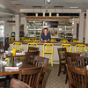 DESI SMITH/Staff photo.    Pat Shea owner of C K Pearl in Essex, stands inside his newly renovated restaurant Tuesday morning.  June 3,2014