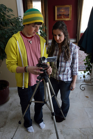 """Mike Kelly and Alannah Grooms co-directed the film, """"The Boy Named Torry and a Little Harmony,"""" which will be featured on Saturday. Photo by Kate Glass/Gloucester Daily Times Monday, January 26, 2009"""