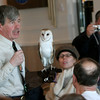 Gloucester: Norman Smith of the Mass Audubon Trailside Museum and Nature Center talks about barn owls to those who came to his lecture at the Elks Club Saturday afternoon.  Smith spoke as part of the Cape Ann Winter Birding Weekend which included birdwatching tours, bird carving and bird drawing.  Mary Muckenhoupt/Gloucester Daily Times