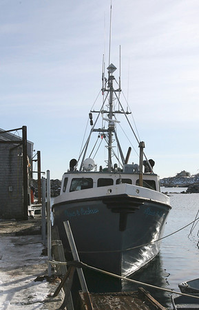 Rockport: Jay VanDerPool's boat, the Alyssa & Andrew, caught fire Tuesday evening shortly after the crew returned from a fishing trip. No one was injured, but the boat sustained thousands of dollars in damage. Photo by Kate Glass/Gloucester Daily Times Wednesday, January 14, 2009