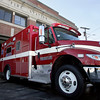 Gloucester: The new city's new $189,000 ambulance sits in front of the fire station on School Street. Mary Muckenhoupt/Gloucester Daily Times