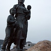 Gloucester: The Fishermen's Wives Memorial was dedicated in 2001, the same year that two Gloucester fishermen died at sea. Josephine Russo lost her father, John Orlando, and husband, Matteo Russo, at sea on Saturday. She has a three-year-old son and is pregnant with their second child. Photo by Kate Glass/Gloucester Daily Times Monday, January 5, 2008