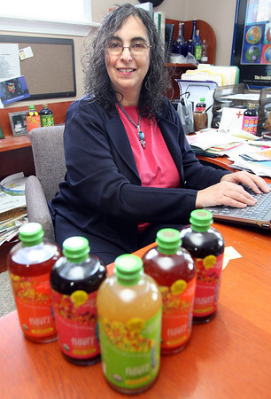 """Gloucester: Karen Barth of Gloucester created the organic drink mix """"Flavrz,"""" which she is marketing to national supermarkets. Photo by Kate Glass/Gloucester Daily Times Monday, January 12, 2009"""