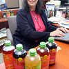 "Gloucester: Karen Barth of Gloucester created the organic drink mix ""Flavrz,"" which she is marketing to national supermarkets. Photo by Kate Glass/Gloucester Daily Times Monday, January 12, 2009"