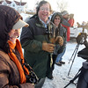 Gloucester: Alice Morgan of Boston, Geoffrey LeBaron of Williamsburg, and Harvey Allen of Amherst join dozens of birders on Eastern Point to search for an Ivory Gull, which is usually only found in arctic climates. Although they did not see the bird, the three said they spotted lots of other interesting birds in the area. Photo by Kate Glass/Gloucester Daily Times Monday, January 19, 2009
