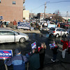 Gloucester: Hundreds of supporters for Martha Coakley and Scott Brown turned out at Tally's Corner to show support for the candidates for U.S. Senate Saturday afternoon. Martha Coakley arrived in Gloucester around 2 p.m. with Congressman John Tierney to greet supporters and speak at the offices of Free Flow Power on Commercial Street. Mary Muckenhoupt/Gloucester Daily Times