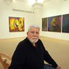 Gloucester: Gloucester artist Gordon Goetemann, sitting here in front of some of his paintings, will give a gallery talk at the Cape Ann Museum on Saturday, January 16, 2010 at 10:30 a.m.  Mary Muckenhoupt/Gloucester Daily Times