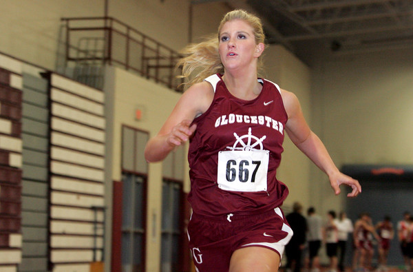 Gloucester: Gloucester senior Brittany Diamond came in first place for the girls 1,000 meter race during the track meet at Gloucester High School Wednesday afternoon. Mary Muckenhoupt/Gloucester Daily Times