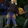 Gloucester: Chris Warde and his daughter Julia, 3, watch the Gloucester vs. Swampscott hockey game at Dorothy Talbot Rink Saturday night. Mary Muckenhoupt/Gloucester Daily Times