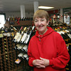 Essex: Christine Marano, owner of Essex Wine and Spirits, says her business has been affected by the causeway construction going on right in front of her store. Mary Muckenhoupt/Gloucester Daily Times