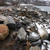 Rockport: The Capital Improvement Committee is recommending $1.1 million for projects such as repairing the riprap at Granite Pier for Fiscal Year 2012. Several sections of the pier have eroded in recent storms. Photo by Kate Glass/Gloucester Daily Times