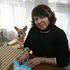 "Gloucester: Maria Grace Furtado, shown here with her dog, Kirby, recently published her novel, ""Love and Murder on Rocky Neck."" Photo by Kate Glass/Gloucester Daily Times"