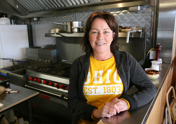 Gloucester: Christine Mabe, head chef of the new Cape Ann Brewing Co. pub, uses their beer in several dishes and features local seafood, homemade soups and dressings. Photo by Kate Glass/Gloucester Daily Times