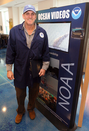 """Gloucester: Jimmy Tarantino, who was recently a contestant on """"Survivor: Nicaragua"""" will be giving a talk about his experience at NOAA headquarters on Monday night. Tarantino is a seafood inspector at NOAA. Photo by Kate Glass/Gloucester Daily Times"""