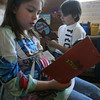 "Gloucester: Mcaela Chase and Colby Mitchell, both 4th graders, read ""Animal Mysteries"" as part of the new reading curriculum at Beeman Memorial Elementary School. Photo by Kate Glass/Gloucester Daily Times"