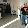 Gloucester: Miles Schlichte, Gloucester Emergency Management Director, discusses his plans to use several vacant rooms in the Fuller School for a centralized emergency coordination center. Photo by Kate Glass/Gloucester Daily Times