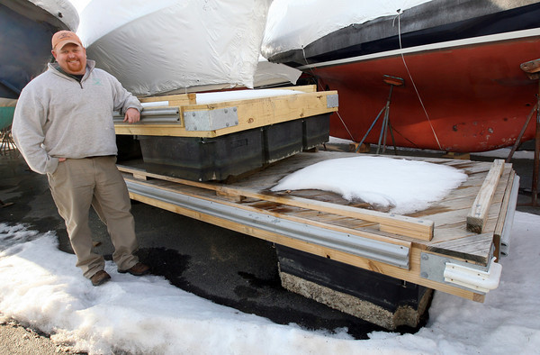 Essex: Skip Crocker has offered to build a new dock for Centennial Grove using maintenance-free materials. Photo by Kate Glass/Gloucester Daily Times