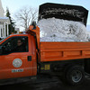 Rockport: Steve Ranta of the Rockport DPW waits for his truck to be filled with snow before dumping it at the Old Granite Pier. Photo by Kate Glass/Gloucester Daily Times