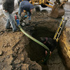 Gloucester: DPW workers, from left, Jack Carrancho, Jimmy Prentiss and Bob Peavy work to fix a watermain break on Railroad Avenue Friday morning. Mary Muckenhoupt/Gloucester Daily Times