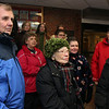 ALLEGRA BOVERMAN/Staff photo. Gloucester Daily Times. Gloucester: About 15 people who are concerned gathered at Addison Gilbert Hospital on Tuesday afternoon. They will attend the hearing on Thursday evening to be held by the state department of public health. Front row, from left are: Bruce Maki, Beverly Quint and Alice Whittaker. Second row, behind them, are: Linda Maki, Lee Swekla, Louise Palazzola and Al Swekla. In the back row are Kasha Gula, Marcia Hart, Alex Kadim and Ben Steele.