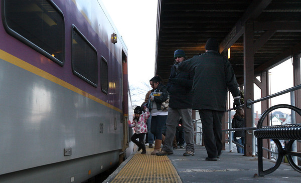 ALLEGRA BOVERMAN/Staff photo. Gloucester Daily Times. Gloucester: The Gloucester stop on the Rockport line on Wednesday afternoon. The MBTA is considering ending weekend service and service after 10 p.m.
