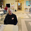 ALLEGRA BOVERMAN/Staff photo. Gloucester Daily Times. Gloucester: At the Grace Center at St. John's Episcopal Church on Wednesday, volunteers were on hand to welcome anyone who needed to get warm, have food and use the space for a touchdown space. Herb Baker was greeting people on Wednesday.