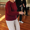 ALLEGRA BOVERMAN/Staff photo. Gloucester Daily Times. Rockport: Line Dancing at Community House in Rockport is every Tuesday at 2 p.m. Participants include Juliana McGovern, center, who is the class helper and substitute dance teacher. From front to back are Bette Mello, Joan Thompson and Diane Dawson.