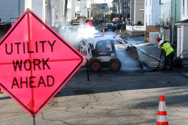 ALLEGRA BOVERMAN/Staff photo. Gloucester Daily Times. Gloucester: National Grid is working on gas pipes on Summer Street, Orchard Street and other nearby streets.