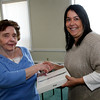ALLEGRA BOVERMAN/Staff photo. Gloucester Daily Times. Gloucester: Marilyn Blatchford of Gloucester, left, won an iPad. She is with Christine Madruga of the Gloucester Daily Times Circulation Department.