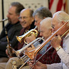 ALLEGRA BOVERMAN/Staff photo. Gloucester Daily Times. Gloucester: The Good Ole Salty Jazz Band performs every Monday afternoon at 1 p.m. at the Rose Baker Senior Center in Gloucester. People get up to dance, knit and relax to the singing and the music.