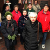 ALLEGRA BOVERMAN/Staff photo. Gloucester Daily Times. Gloucester: About 15 people who are concerned gathered at Addison Gilbert Hospital on Tuesday afternoon. They will attend the hearing on Thursday evening to be held by the state department of public health. Front row, from left: Beverly Quint and Alice Whittaker. Second row, from left are: Judi Gross, Lee Swekla, Louise Palazzola, Alex Kadim, Al Swekla. Behind them, from left: June Cok Madruga, Kasha Gula, Marica Hart, Ben Steele. At top, Peggy O'Malley.